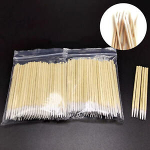 100pcs Wooden Handle Stick Cotton Swabs Buds Cleaning Tool Medical Makeup Beauty