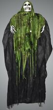 6ft SOUND ACTIVATED SHAKING REAPER HALLOWEEN ANIMATED PROP HOODED SKELETON DECOR