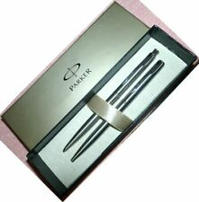 Parker Insignia Ball Pen & Pencil brushed Stainless Steel set Owens Corning ct b