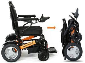 Electric Light-Weight Folding Wheelchair LEITNER BILLI Free Shipping