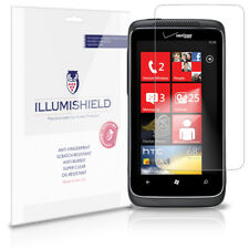 iLLumiShield Phone Screen Protector w Anti-Bubble/Print 3x for HTC Trophy