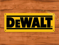"TIN SIGN ""DeWalt Yellow"" Power Tools Tractor Farm Garage Wall Decor"