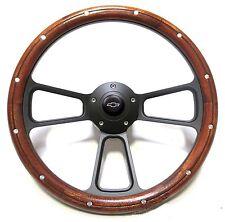 Mahogany & Billet Steering Wheel Boss Kit for 1966 Chevelle, El Camino