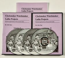 Watchmaker Lathe PROJECTS 4 DVDs video course with Manual. NEW DVD course!