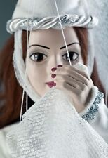 White Lady Czech Marionette Puppet (handmade in Czech Republic)