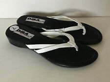 NEW! DIBA BRAND WHITE STRAP THONG WEDGE SHOES SANDALS 7 37 SALE
