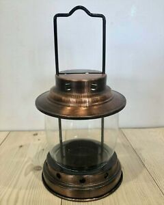 Small Camping Lantern Candle Holder Bronze Metal Tea Light