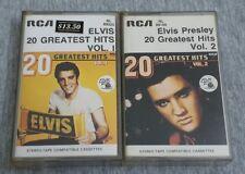 Elvis Presley ~ Greatest Hits Vol.1 & 2 ( Malaysia Press ) Cassette