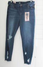 Celebrity Pink Womens Plus Size Ripped Skinny Ankle Jeans Arrow Sz 18 - NWT