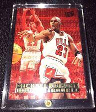 MICHAEL JORDAN 1995 FLEER ULTRA #3 DOUBLE TROUBLE GOLD FOIL INSERT BULLS NBA