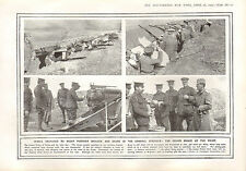 1915 WWI PRINT ~ CROWN PRINCE AT THE FRONT ~ SERBIA RESIST INVASION GENERAL