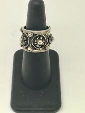 silver ring, size 7.5 Antique Mexico handmade 925