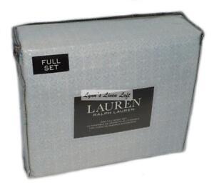 RALPH LAUREN Full Sheet Set 4P BLUE MOSAIC AZTEC New Cotton MEDALLION