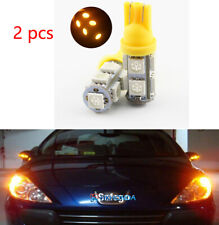 2Pcs  Yellow T10 9 SMD 5050 194 2825 501 Bulb Car LED Wedge Light Plate Licen