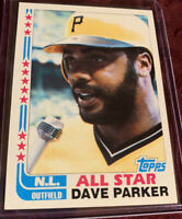 Dave Parker 1982 Topps Baseball All Star Card # 343, Pittsburgh Pirates Legend