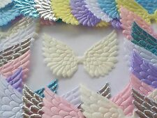 50! Angel & Fairy Wings Pastel Colour Mix Padded Wing Embellishments - 7cm/2.5""
