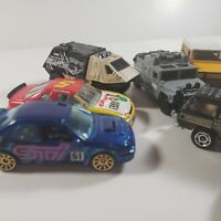Lot Of 10 Loose Hot Wheels Matchbox Toys Diecast 1:64 Cars STI Hummer Land Rover