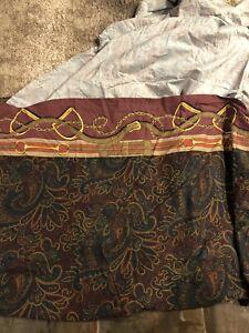 Ralph Lauren Ascot Paisley King Flat Sheet Cotton Sateen Vintage
