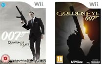 007  jame bond  quantum of soalce & golden eye   wii  pal