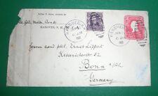 Ganzsache USA - Hanover(US) - Bonn - 1905