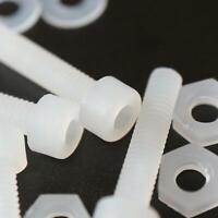 10 x brugola in PVDF, testa esagonale, viti per macchine in plastica, M4 x 20mm