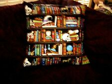 SPELLBOUND WIZARD LIBRARY PILLOW COVER