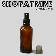4 x 100ml Glass Amber Bottles / Spray Bottle - Aromatherapy Spritzer FREE POST
