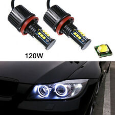 20w 6500k Blanco H8 LED ANGEL EYES Anillo De Halo bombillas hid xenon para BMW