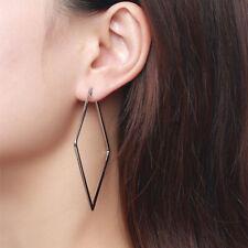 Stainless Steel Geometric Square Hoop Dangle Earrings for Women Girl