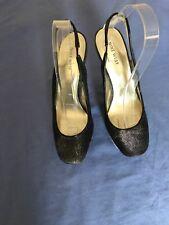 Nine West Ladies Grey Glitter Platform Heels UK Size 6, USA 8W (3C)