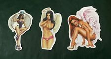 LOTTO 3 adesivi SEXY GIRL ANGEL lot 25