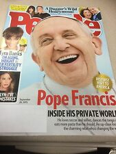 PEOPLE MAGAZINE SEPTEMBER 2015 POPE FRANCIS INSIDE HIS PRIVATE WORLD
