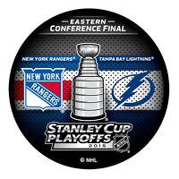 2015 NHL New York Rangers v Tampa Bay Lightning Stanley Cup Playoffs Hockey Puck
