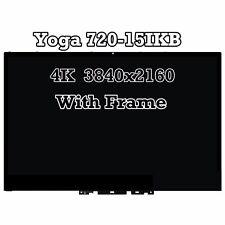 4K Lenovo Yoga 720-15IKB UHD 3840x2160 LCD Screen Touch Digitizer Bezel Assembly