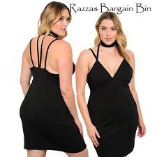 New Ladies Stunning Little Black Dress Plus Size 18/2XL (1032)OE