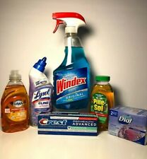 Household and Cleaning Supplies Lot of 7 Items Includes Windex O, Dawn, Pinesol