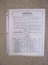 1938 Evinrude Sportfour Outboard Parts List 9026 9027 9028 9029 MORE IN STORE  [