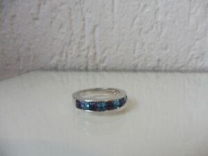 Noble Ring, Blue And Purple Stones,Size 58,Swarovski
