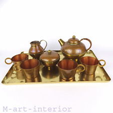 Vintage Tee Service Kupfer & Messing Tea Centrepiece Set Harald Buchrucker 1950s