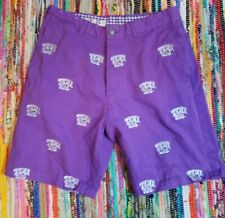 Texas Christian Tcu Horned Frogs Pennington & Bailes Stadium Pants Shorts 33 W