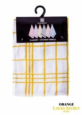 Pack Of 3 Terry 100% Cotton Tea Towels Set Kitchen Dish Cloths Cleaning Drying