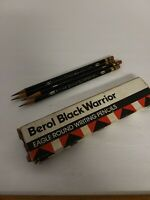 Lot of 4 Vintage Berol Black Warrior Eagle Round Writing Pencils Dozen #372