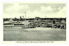 Visitors Dionne Quintuplets, Callander, Ontario, Canada Photo Postcard