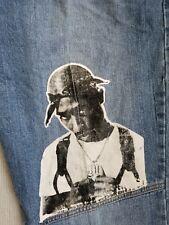 "TUPAC Makaveli ""You Grow We all Gro"" Vintage Jeans Size 36 Baggy Hip Hop RAP"