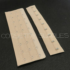Apricot Hook and Eye Loop Tape Corset Bra Lingerie Costume Supplies 3 Rows 17cm