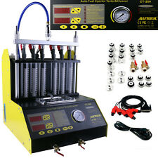 New Autool CT200 Ultrasonic Petrol Car Motorcycle Fuel Injector Cleaner&Tester