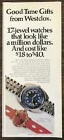 1970 Westclox Holiday Print Ad 17 Jewel Watches That Look Like a Million Dollars
