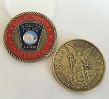 SAINT MICHAEL PATRON SAINT OF LAW ENFORCEMENT Coins BOSTON POLICE Souvenir Coin