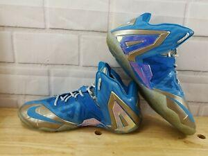 2014 Nike Lebron (XI) 11 Elite 'Maison Du Lebron' 682892404 3M Blue Men Sz. 11.5