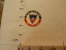 STICKER,DECAL H.F.C. HAARLEM OPG. 1 OCT 1889 VOETBAL VERENIGING HAARLEM ? SOCCER